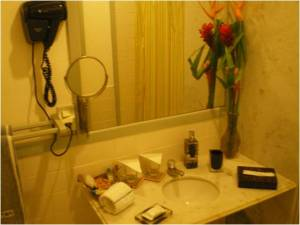 Cida, minha amiga diz:_Secador de cabelos é o mínimo que um hotel tem que ter! Risos...nem na praia a mulé fica sem fazer escova na cebeleira. Tem gente que nasceu pra ser rico, né Cidoca?!